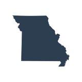 Mapa del U S ejemplo del vector de Missouri del estado Imagenes de archivo