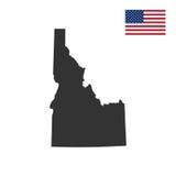 Mapa del U S Estado de Idaho libre illustration