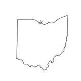 Mapa del U S Estado de Ohio ilustración del vector