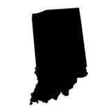 Mapa del U S estado Indiana ilustración del vector