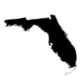 Mapa del U S estado la Florida Imágenes de archivo libres de regalías