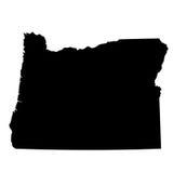 Mapa del U S estado Oregon ilustración del vector
