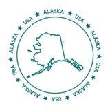 Mapa del vector de Alaska Foto de archivo libre de regalías