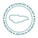 Mapa del vector de Buck Island Reef libre illustration