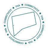 Mapa del vector de Connecticut Fotos de archivo libres de regalías