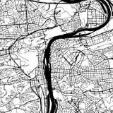 Mapa del vector de la República Checa de Praga libre illustration