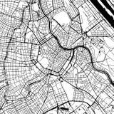 Mapa del vector de Viena Austria ilustración del vector