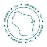 Mapa del vector de Wisconsin Imagen de archivo libre de regalías