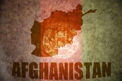 Mapa del vintage de Afganistán foto de archivo