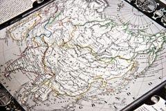 Mapa del vintage de Asia Fotos de archivo libres de regalías