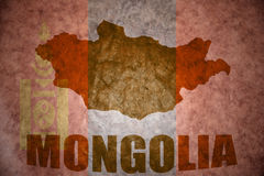 Mapa del vintage de Mongolia fotos de archivo libres de regalías