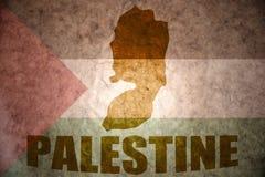 Mapa del vintage de Palestina Foto de archivo