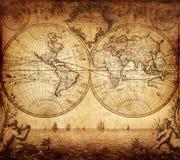 Mapa del vintage del mundo 1733 Fotografía de archivo