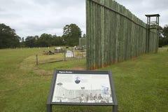 Mapa del visitante del parque nacional Andersonville o campo Sumter, sitio de la prisión confederada de la guerra civil y cemente Foto de archivo libre de regalías