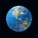 Mapa detalhado elevado da terra, América, EUA Fotos de Stock