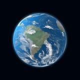 Mapa detalhado elevado da terra, Ámérica do Sul Imagens de Stock Royalty Free