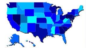 Mapa detallado de Estados Unidos Stock de ilustración
