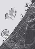 Mapa detallado vector Dubai