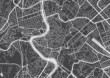 Mapa detallado vector Roma libre illustration