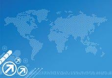 Mapa digital global ilustração royalty free