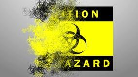 Mapa distribuido biohazard del icono Difusión de peligros biológicos en la tierra libre illustration