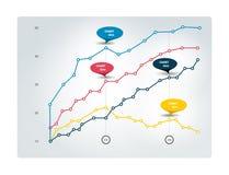 Mapa dla infographics Prążkowany wykres ilustracja wektor