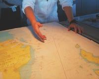 Mapa dla nawigaci Zdjęcia Stock