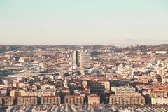 Mapa do airview da cidade em Marselha Imagens de Stock