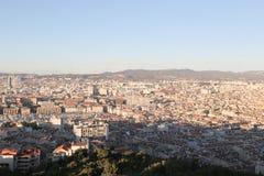 Mapa do airview da cidade em Marselha Imagem de Stock Royalty Free