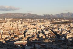 Mapa do airview da cidade em Marselha Fotografia de Stock