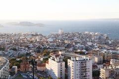 Mapa do airview da cidade em Marselha Foto de Stock