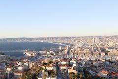 Mapa do airview da cidade em Marselha Imagens de Stock Royalty Free