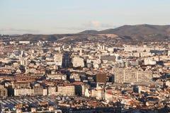 Mapa do airview da cidade em Marselha Imagem de Stock