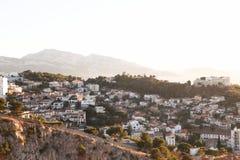 Mapa do airview da cidade em Marselha Fotos de Stock