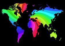 Mapa do arco-íris Foto de Stock Royalty Free