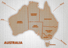 Mapa do Australian Fotografia de Stock