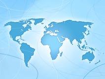 Mapa do azul do mapa de mundo Ilustração Royalty Free