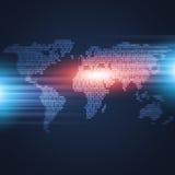 Mapa do código binário Imagens de Stock Royalty Free