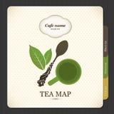 Mapa do chá ilustração stock