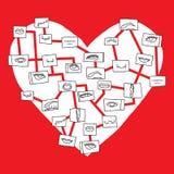 Mapa do coração Imagens de Stock Royalty Free