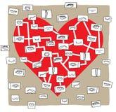 Mapa do coração Imagem de Stock Royalty Free