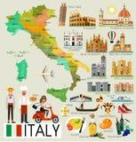 Mapa do curso de Itália ilustração do vetor