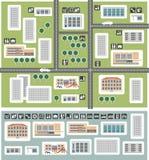 Mapa do distrito Imagem de Stock Royalty Free