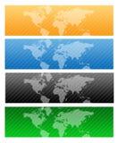 Mapa do encabeçamento/mundo do Web do curso Foto de Stock