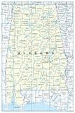Mapa do estado de Alabama Foto de Stock