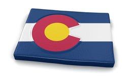 Mapa do estado de Colorado com bandeira Imagem de Stock