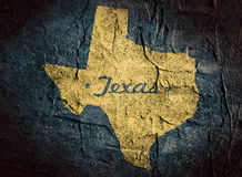 Mapa do estado de Texas fotografia de stock royalty free