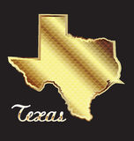 Mapa do estado de Texas Foto de Stock Royalty Free