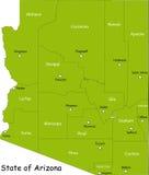 Mapa do estado do Arizona ilustração stock