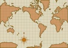 Mapa do estilo do vintage Foto de Stock Royalty Free